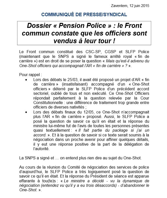 police pension